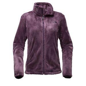 North face purple fleece jacket